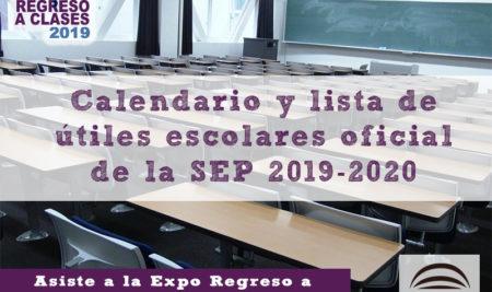 Calendario escolar y lista de útiles